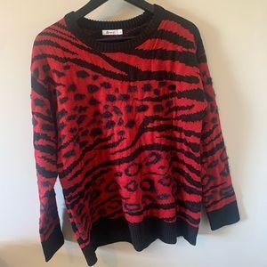 Reitmans / Fuzzy / Abstract Animal Print / Sweater